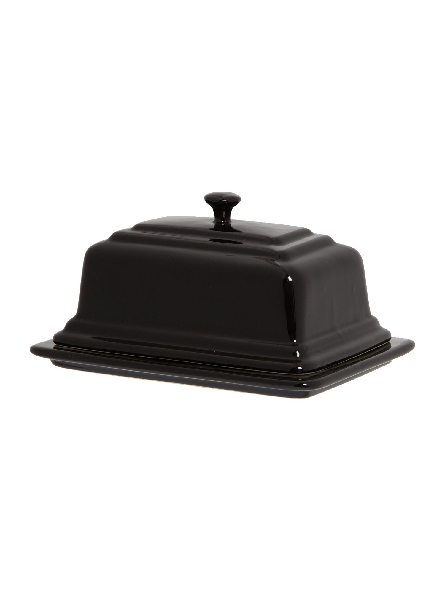 Maison butter dish, Black
