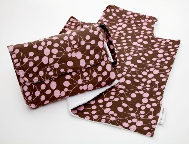 Ruby and Ginger Ruby and Ginger Nappy Purse and Change Mat, Pink