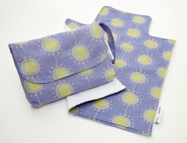 Ruby and Ginger Ruby and Ginger Nappy Purse and Change Mat, Blue