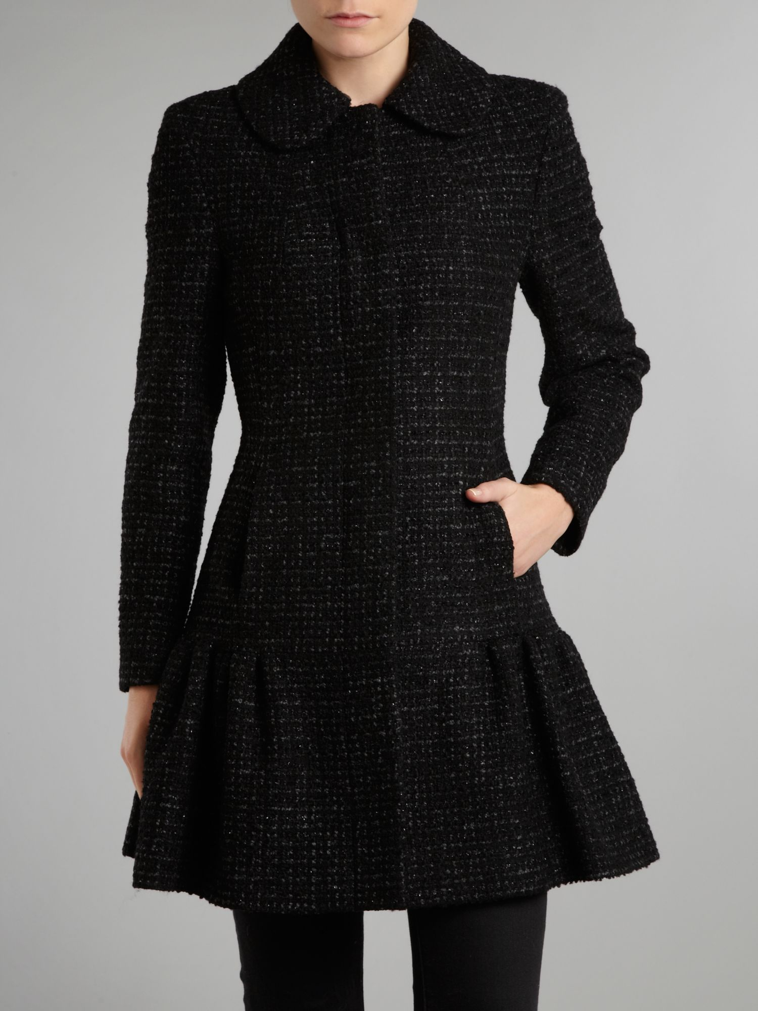 Sparkle wool frock coat
