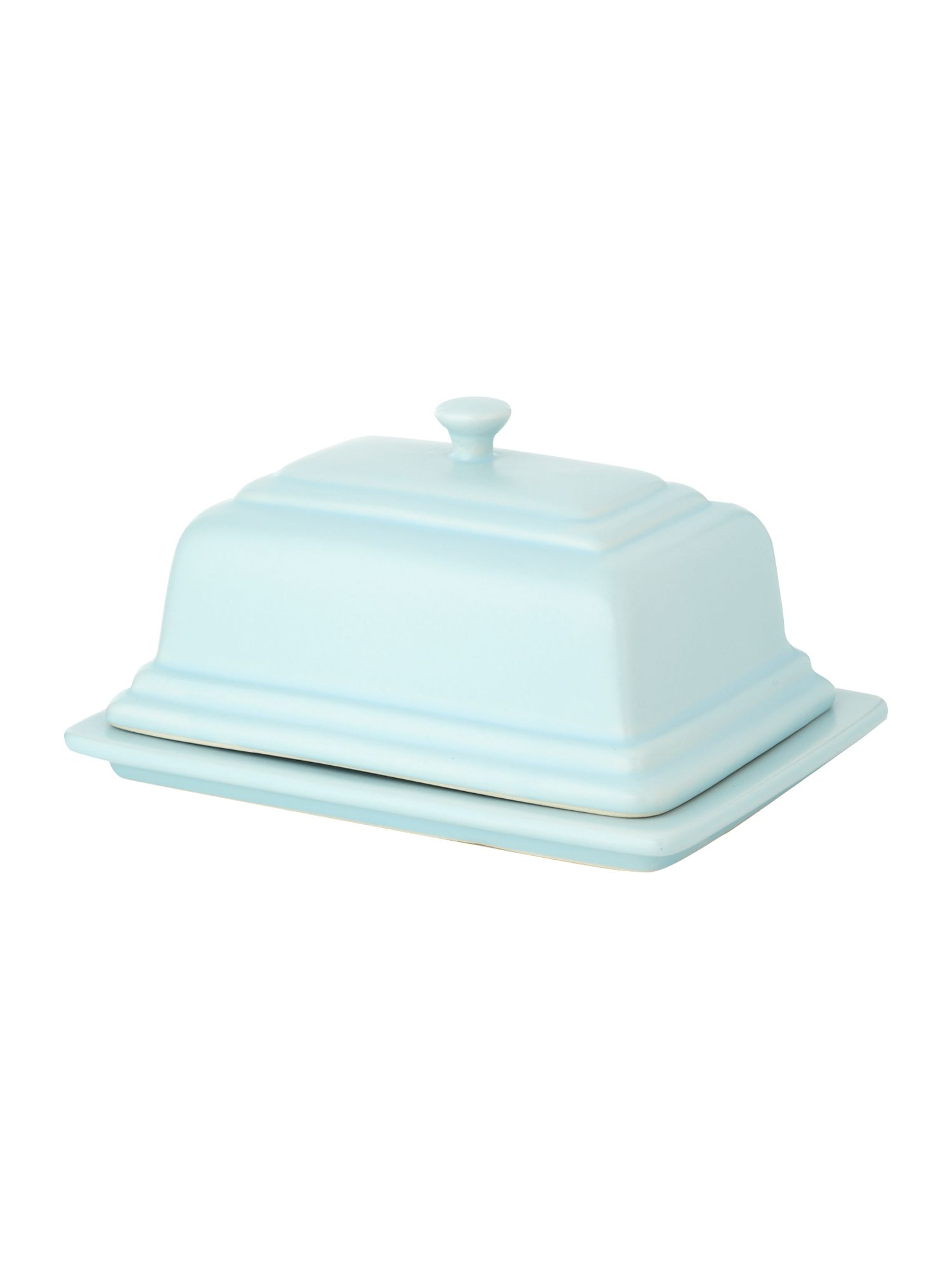 Maison butter dish, Pale blue