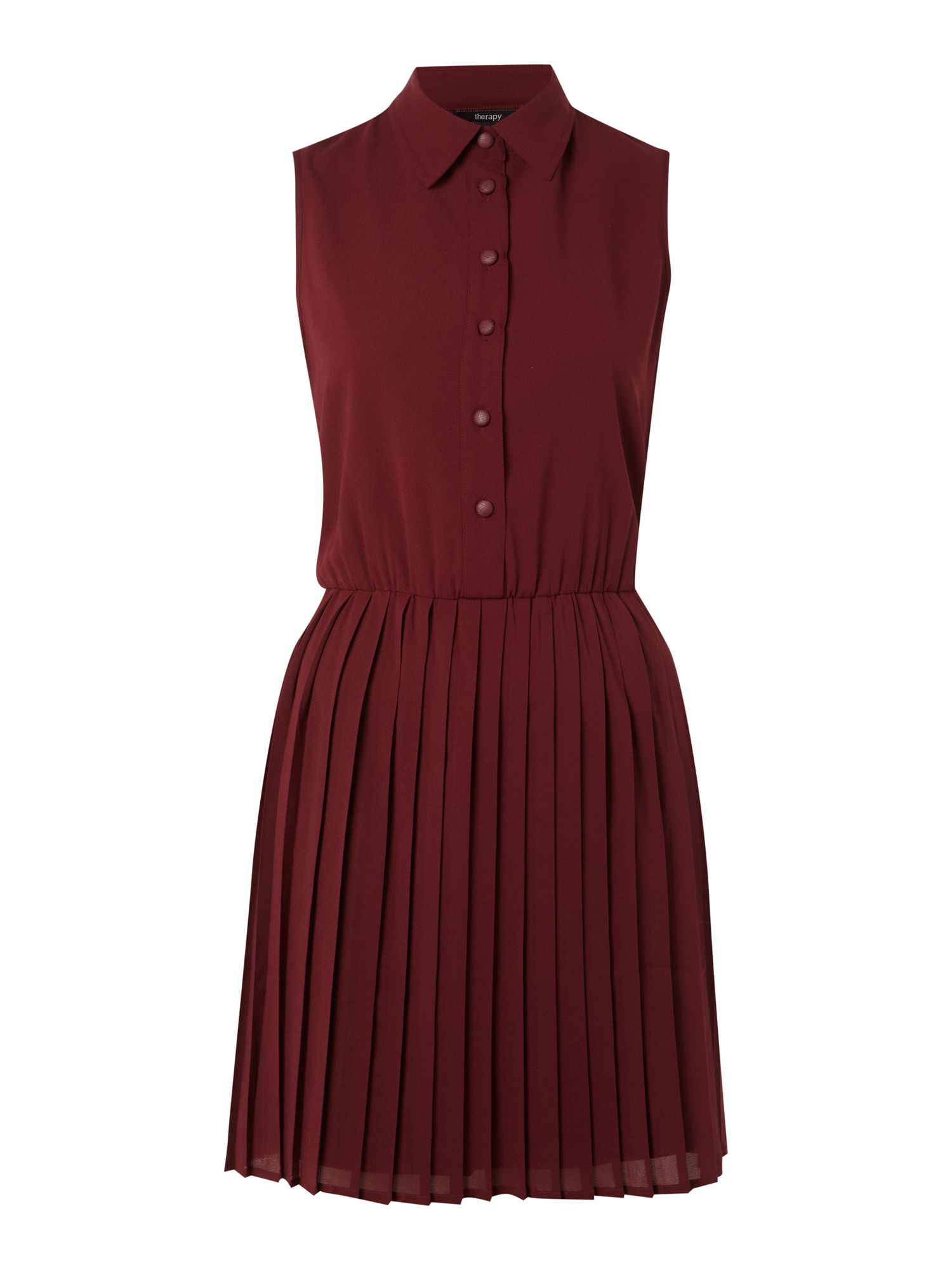 Pleat skirt dress