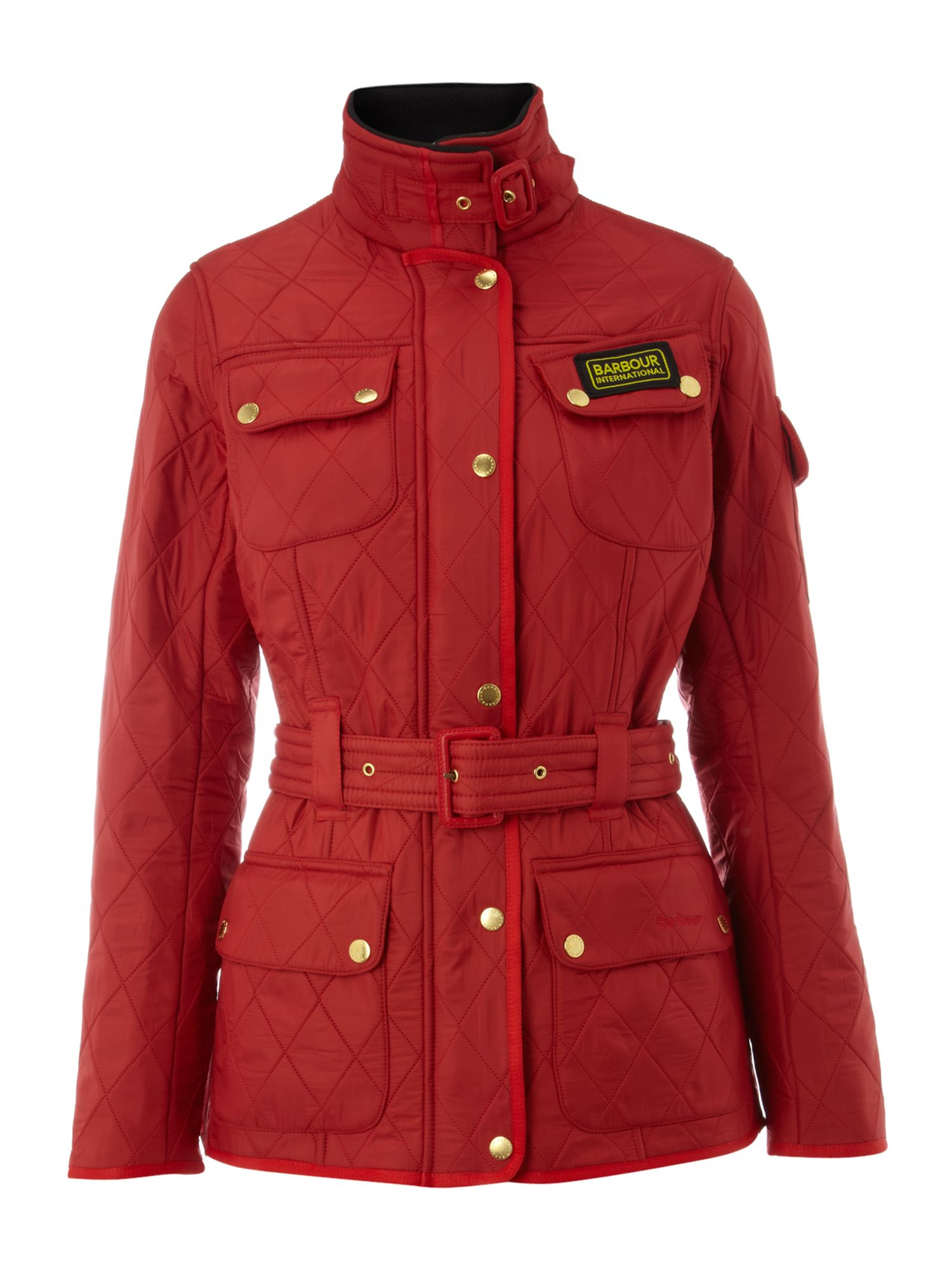 Barbour International Polarquilt Jacket Red