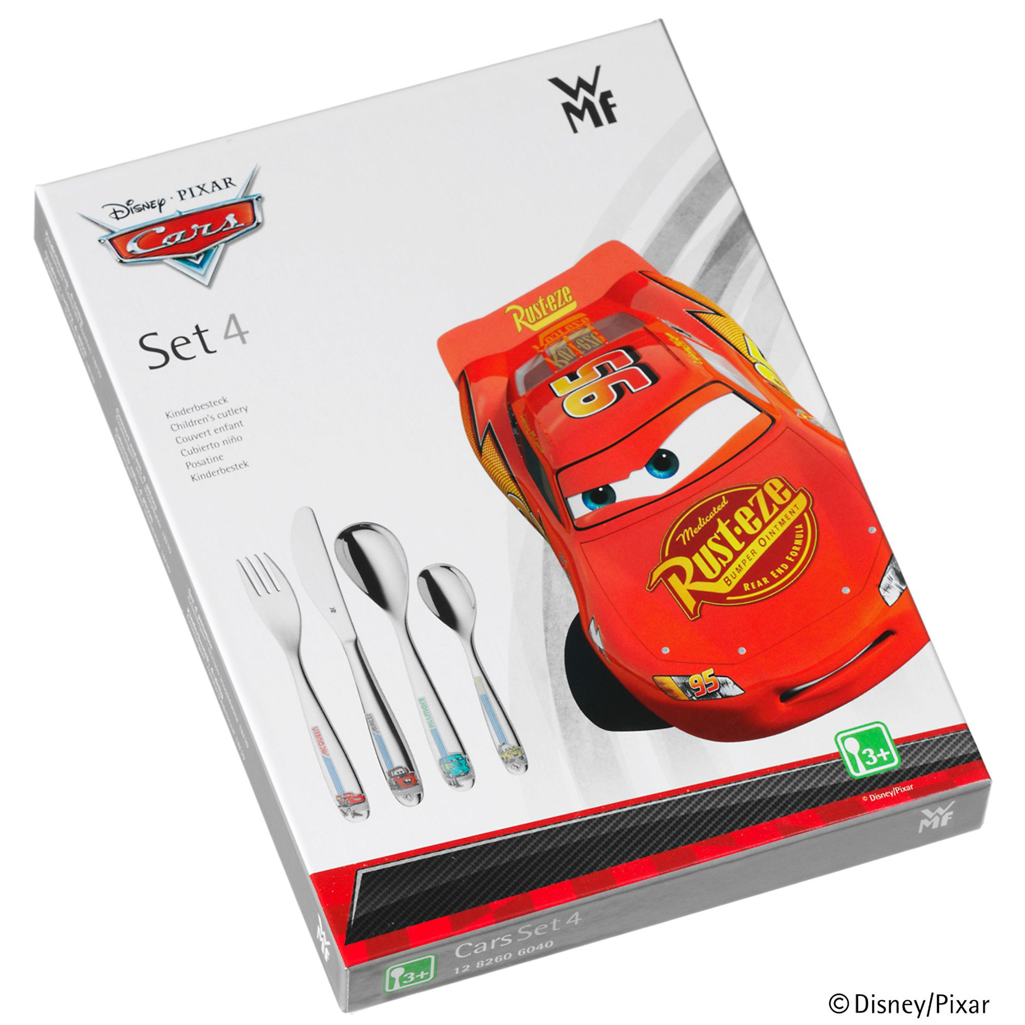 Disney cars 4 pce cutlery set