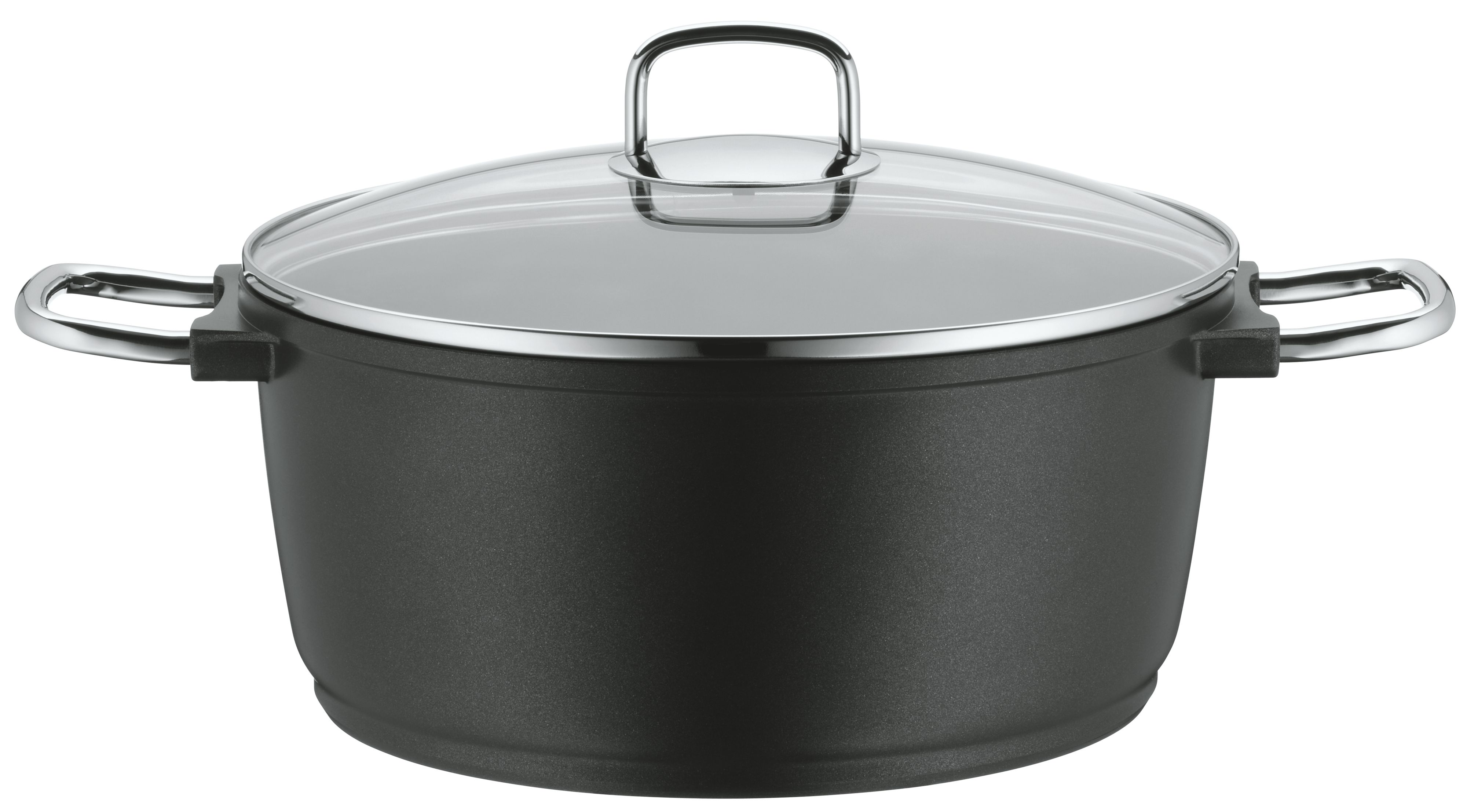 Bueno induction high casserole with glass lid