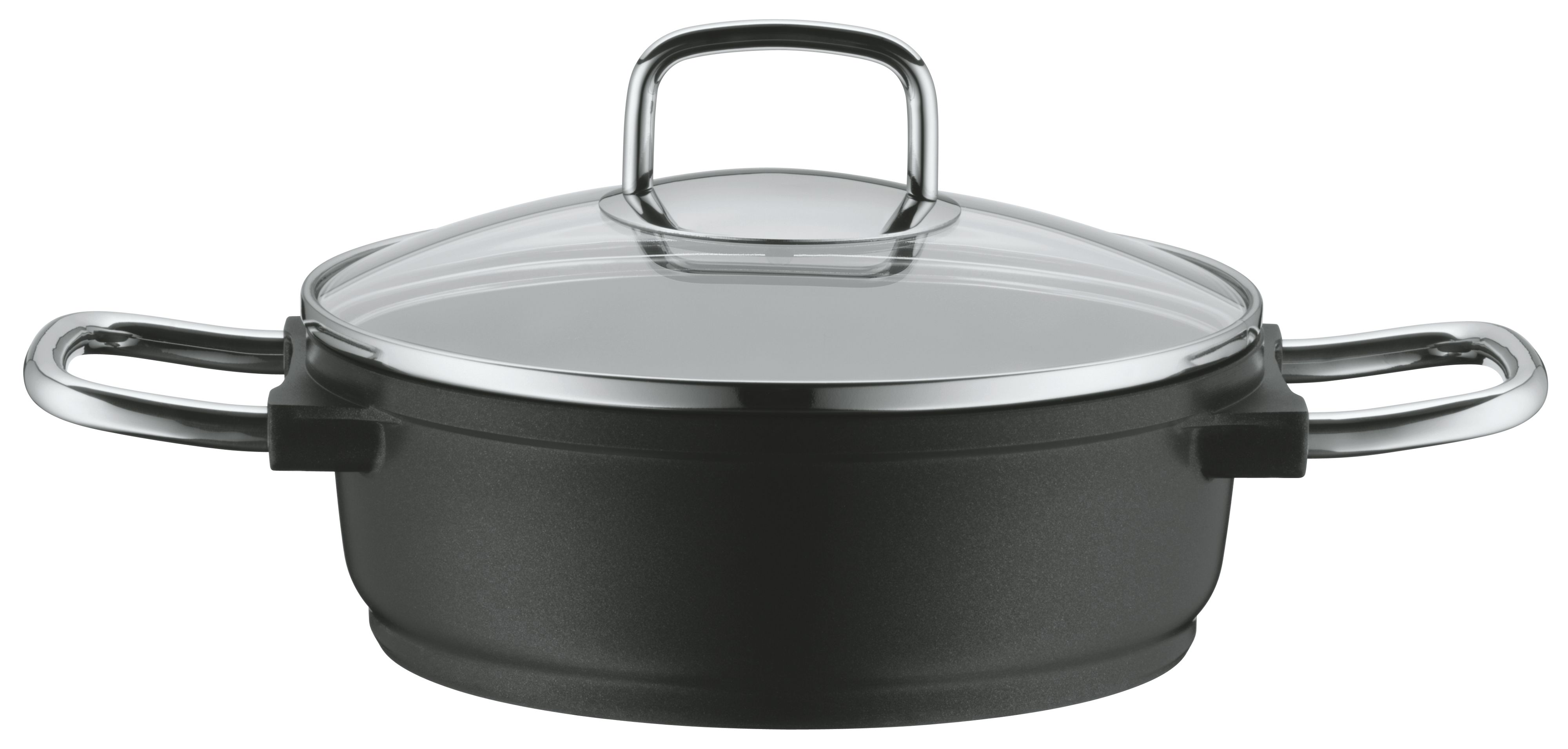Bueno Induction Low Casserole with Glass Lid, 20c