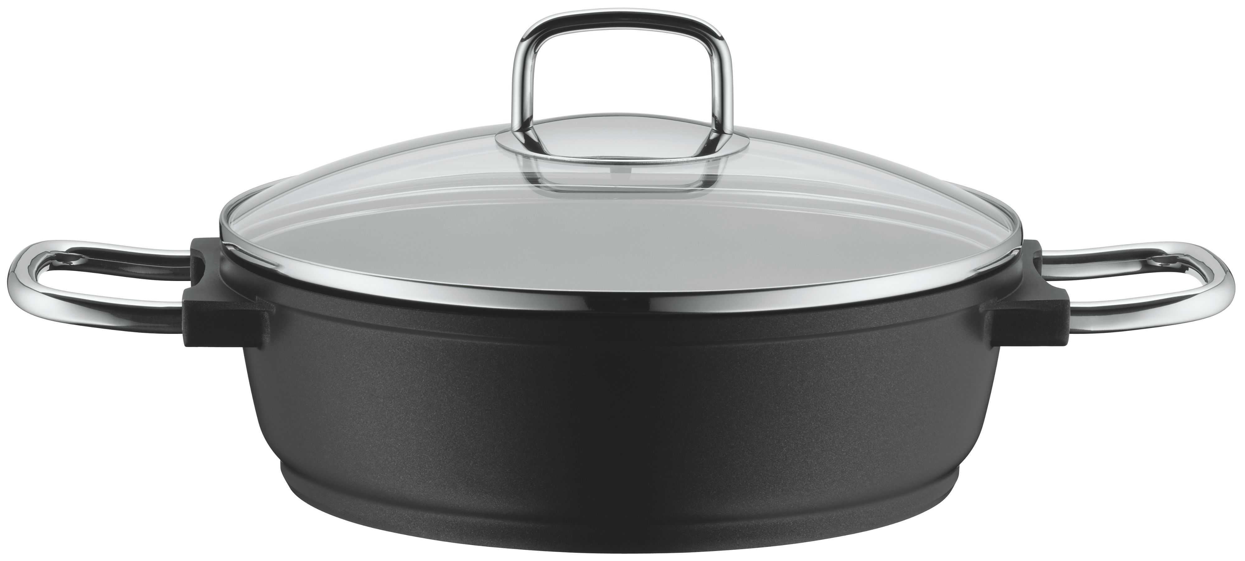 Bueno induction low casserole with glass lid