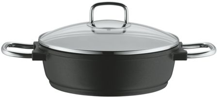 WMF Bueno induction low casserole with glass lid