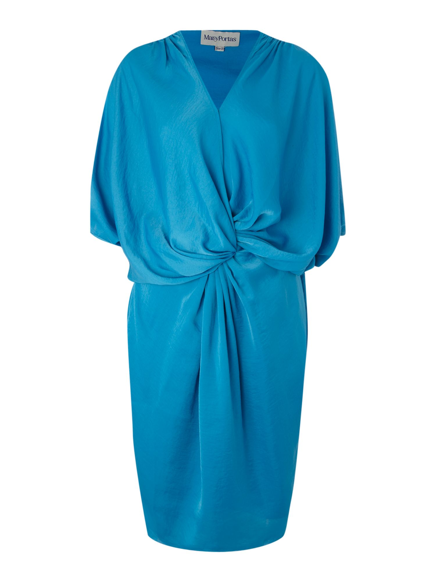 Twist front drape dress