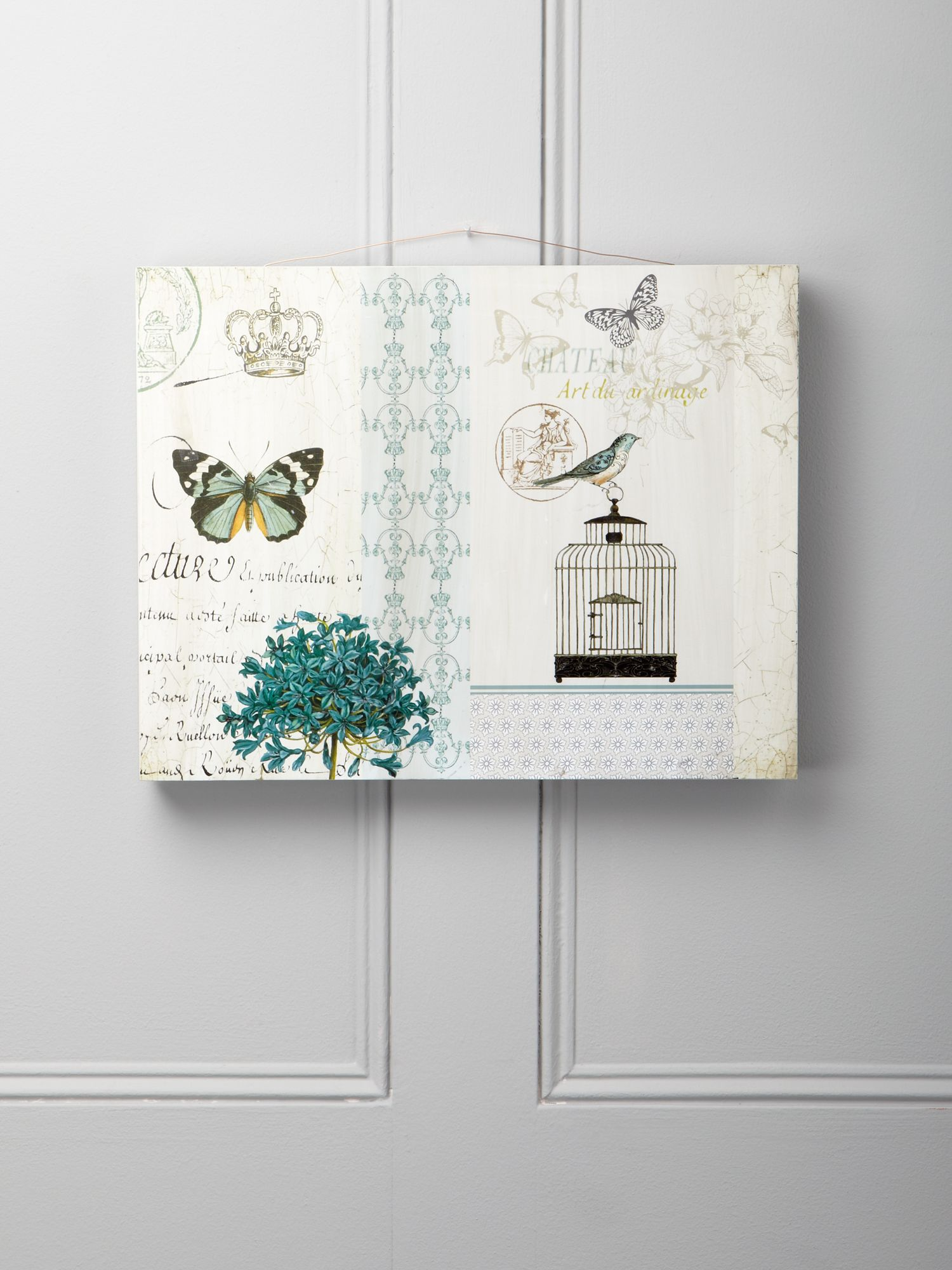 Bird and butterfly wall plaque