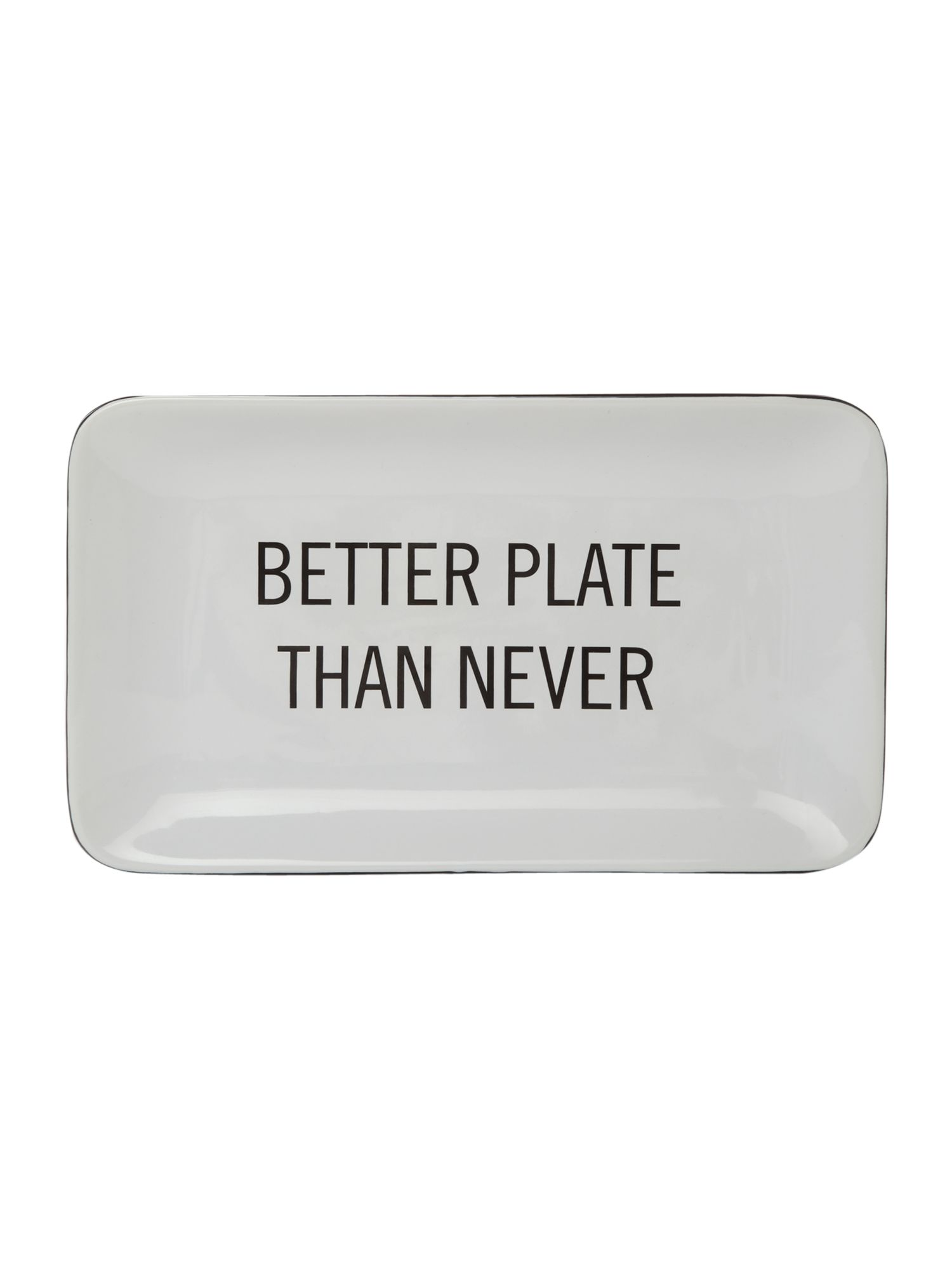 Text better plate than never rec platter