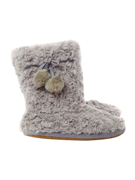 Therapy Curly faux fur booties