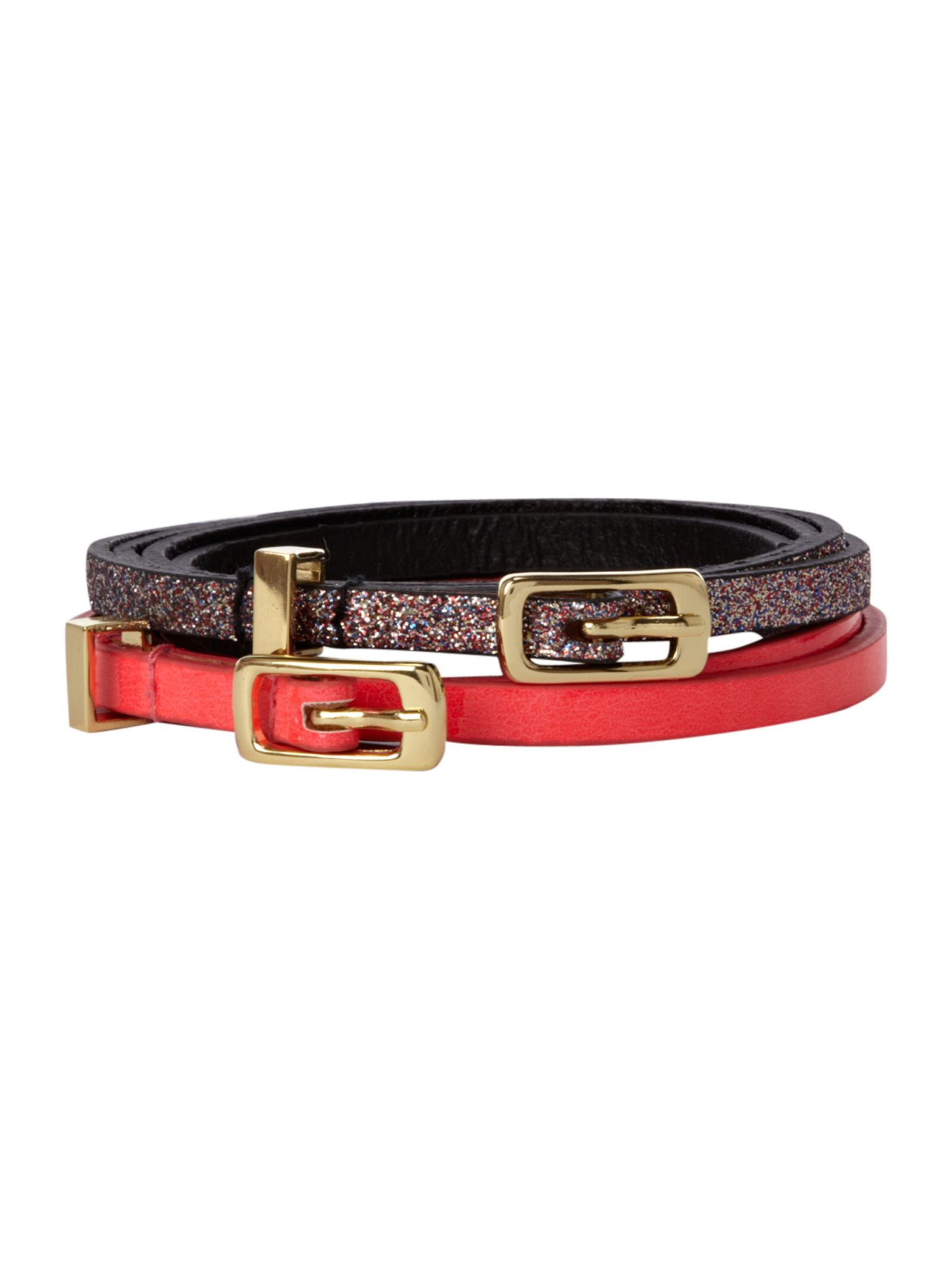 Double pack super skinny belt