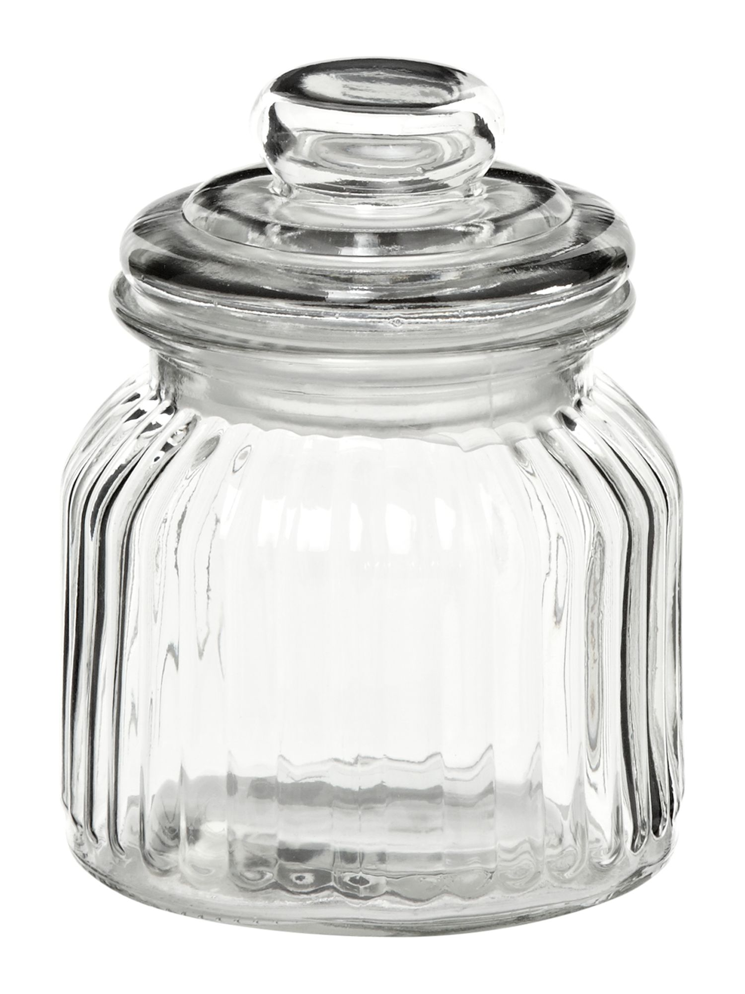 Glass sweetie jar, small
