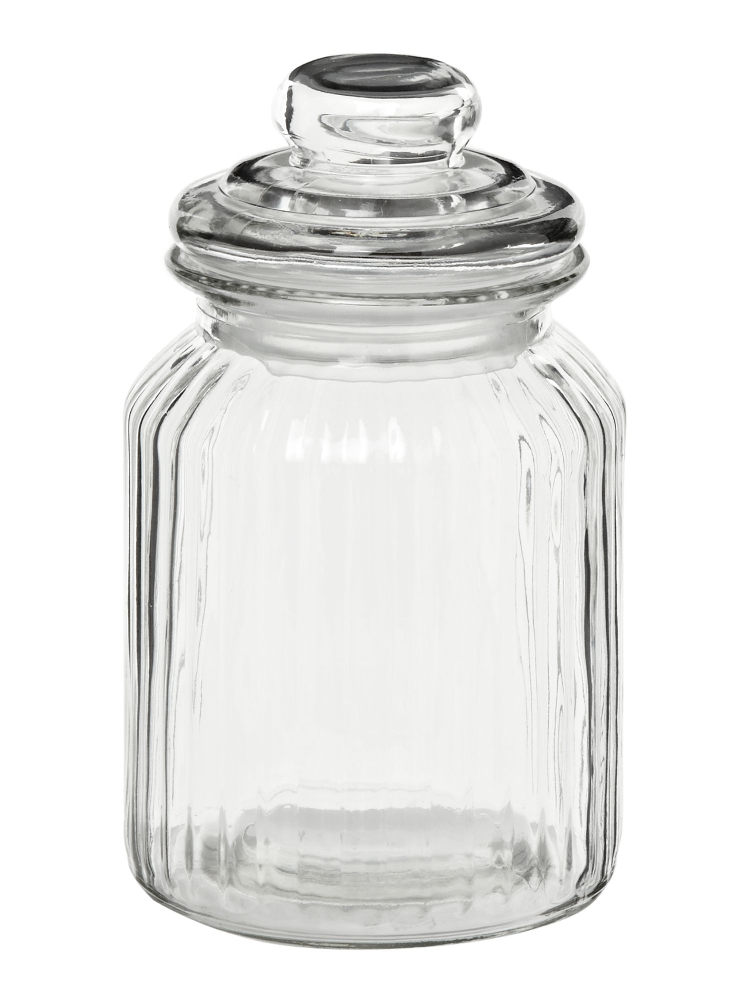 Glass sweetie jar, medium