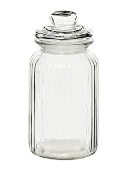 Glass sweetie jar, large