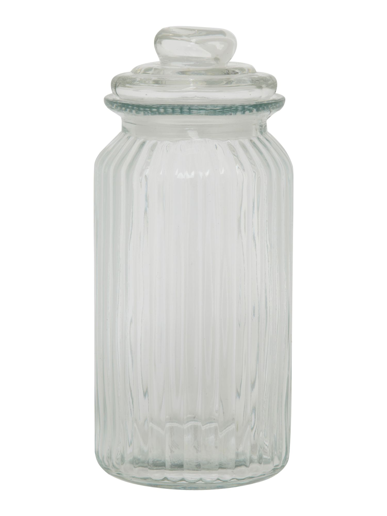 Glass sweetie jar, tall