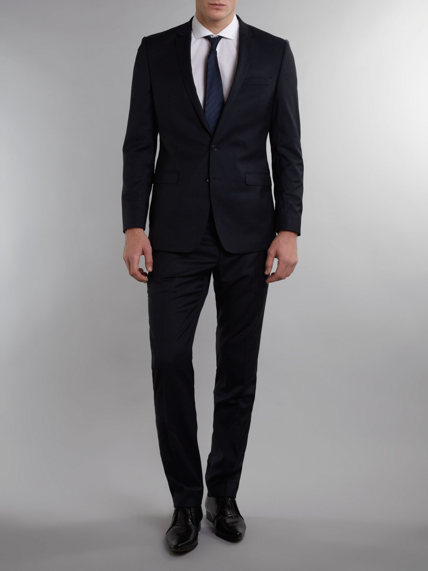 Single breasted flecked wool formal suit