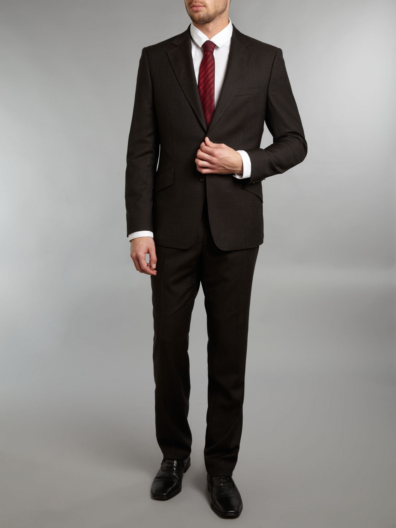 Single breasted 50`s pattern formal suit