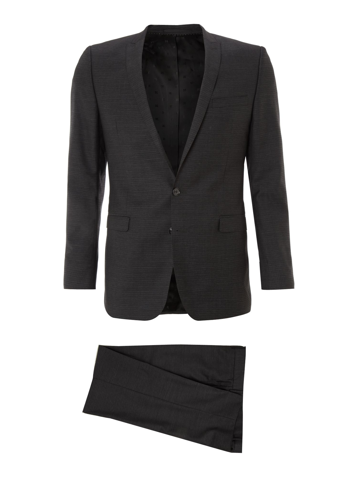 Single breasted dogstooth formal suit