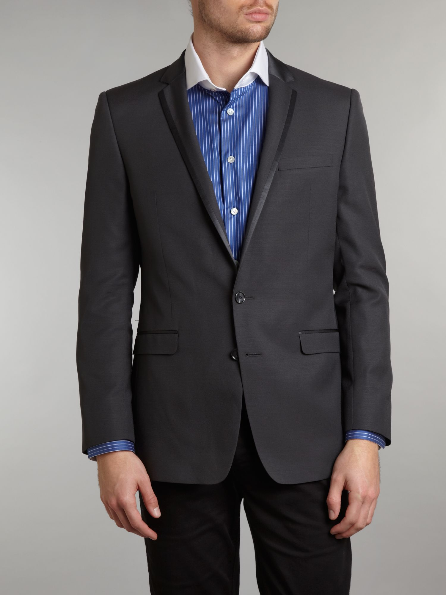 Satin matt edged dinner jacket