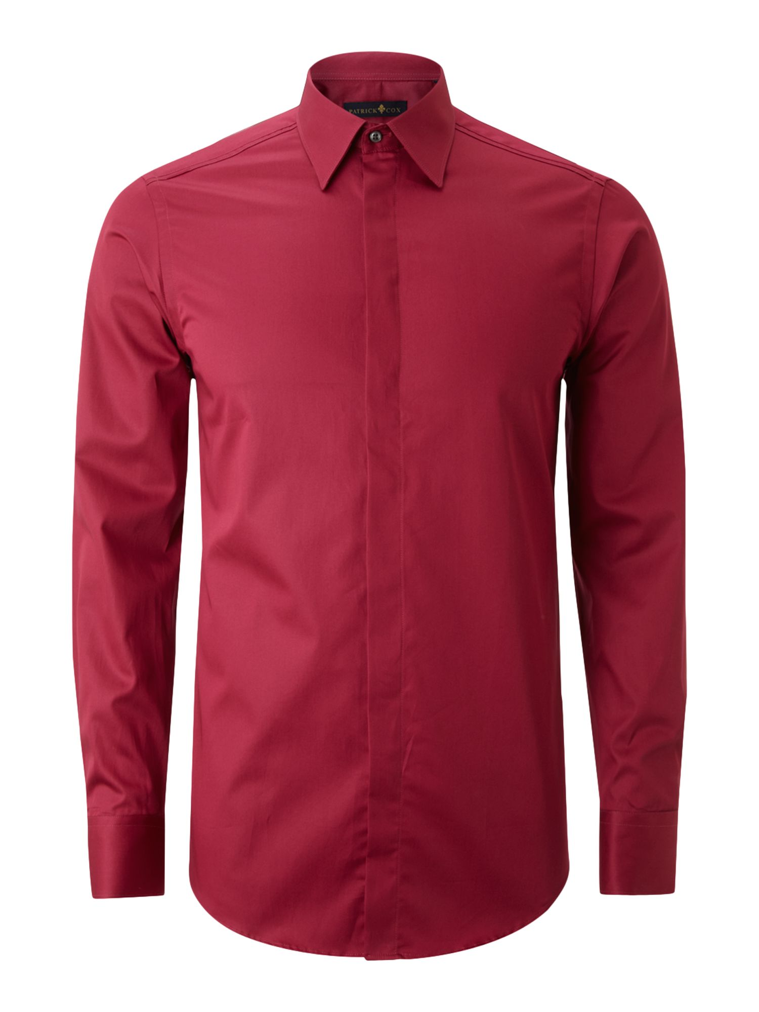Long-sleeve poplin formal shirt