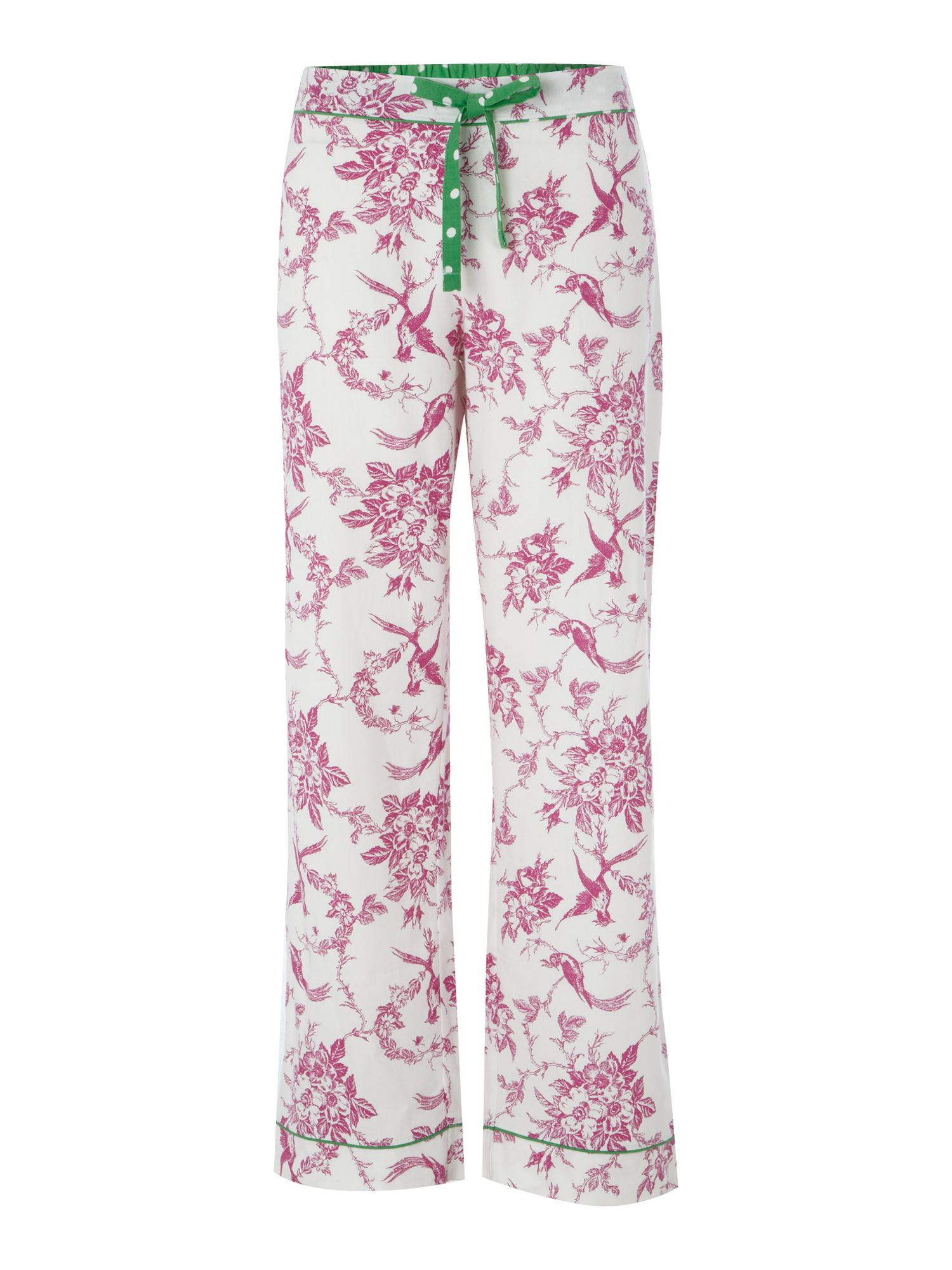 Women's Dickins & Jones Vintage bird print pj pant, Cream