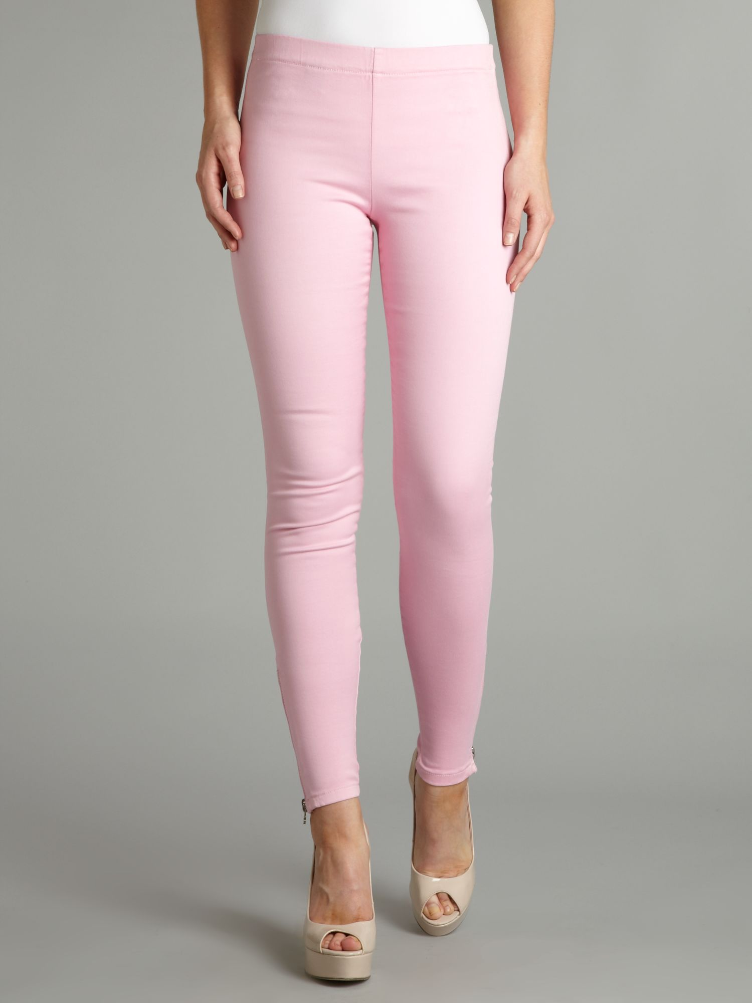 Legging jean with side zip