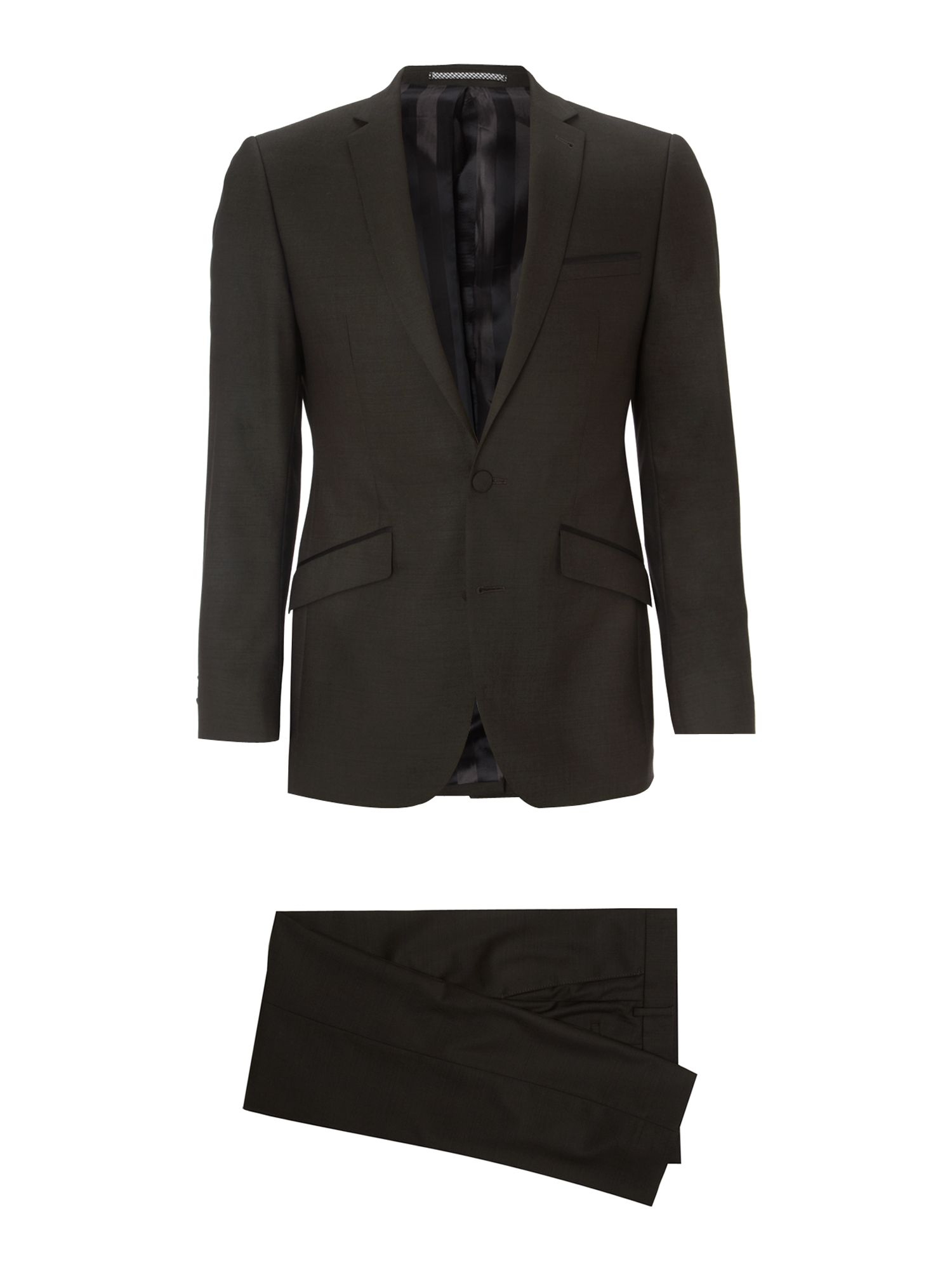 Tonic satin trim suit
