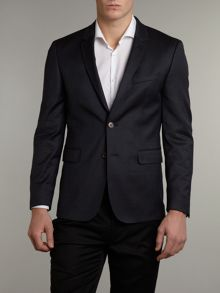 Slim fit soft flannel suit jacket