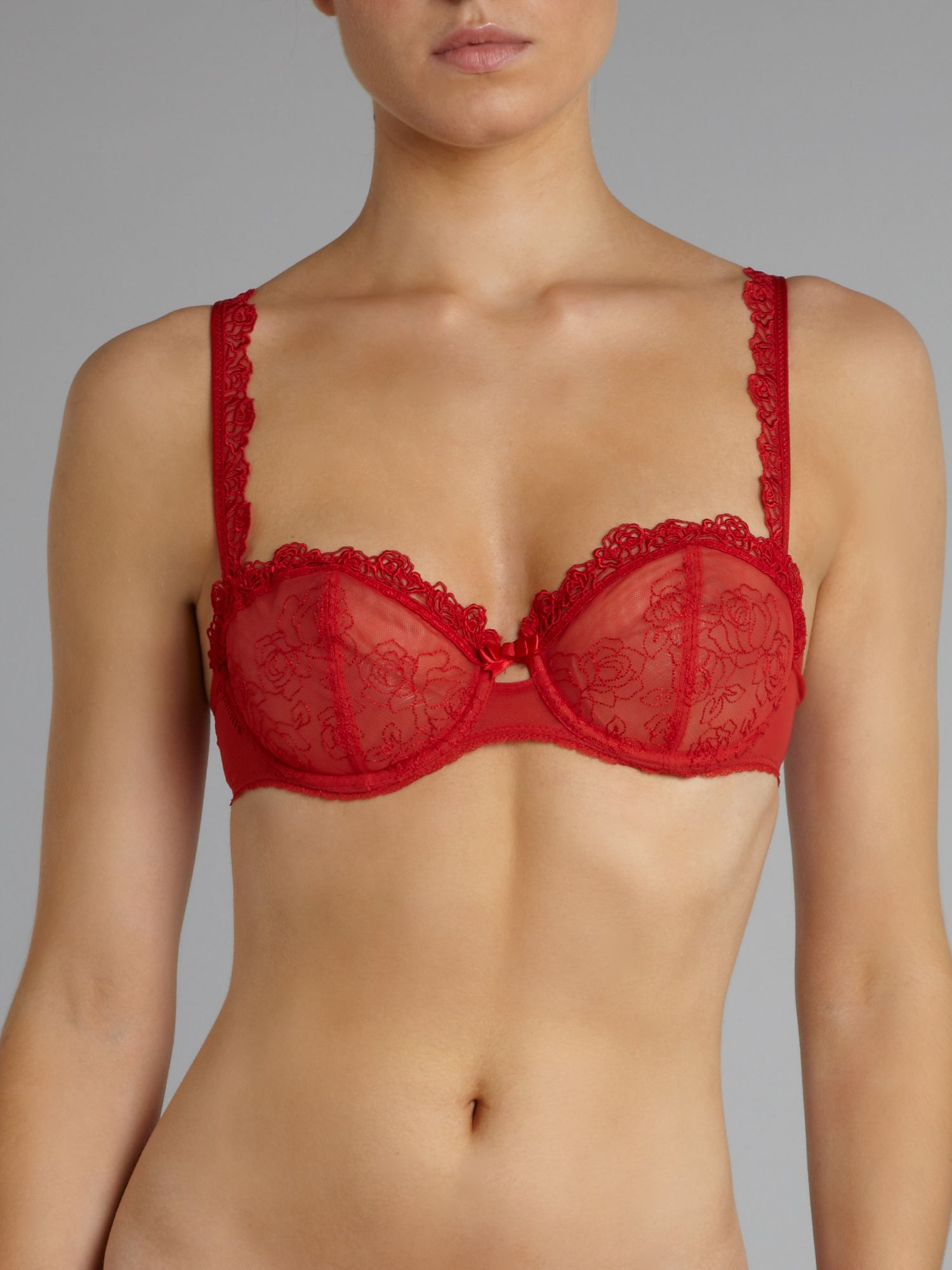 Declaration eternal lace half cup bra