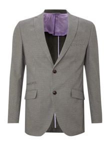 Single breasted mini dogtooth blazer