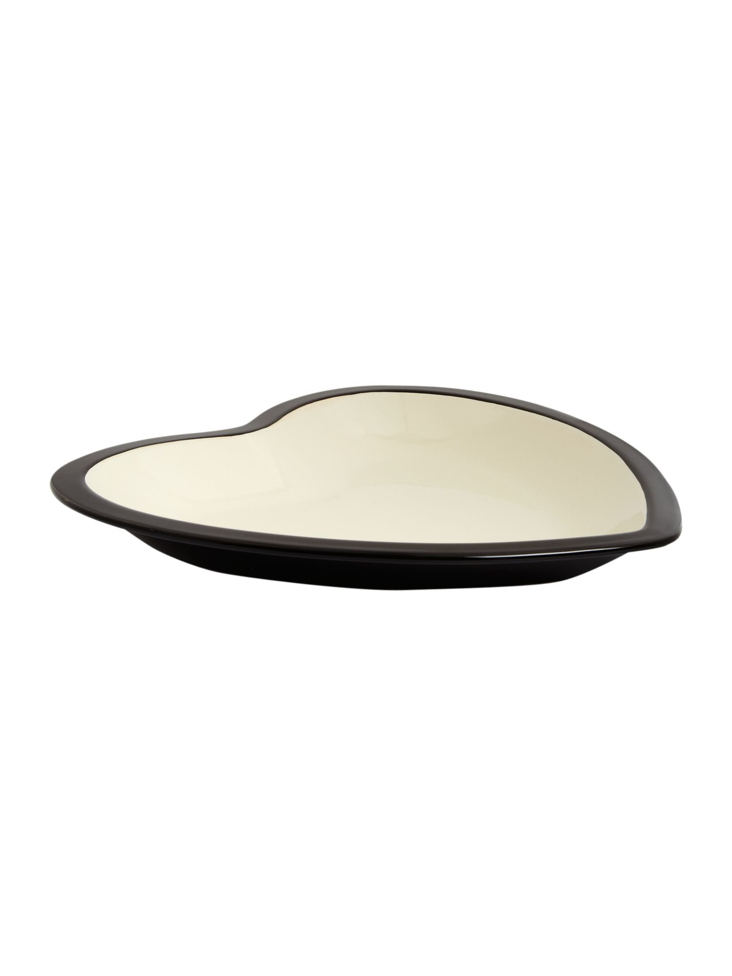 Maison heart shaped dish, Black