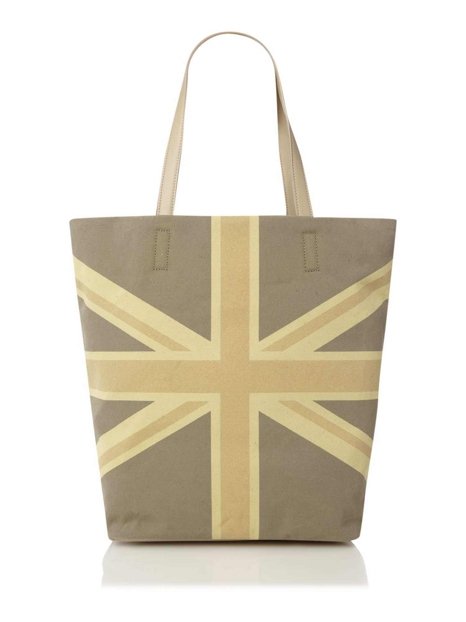 Union jack canvas tote bag