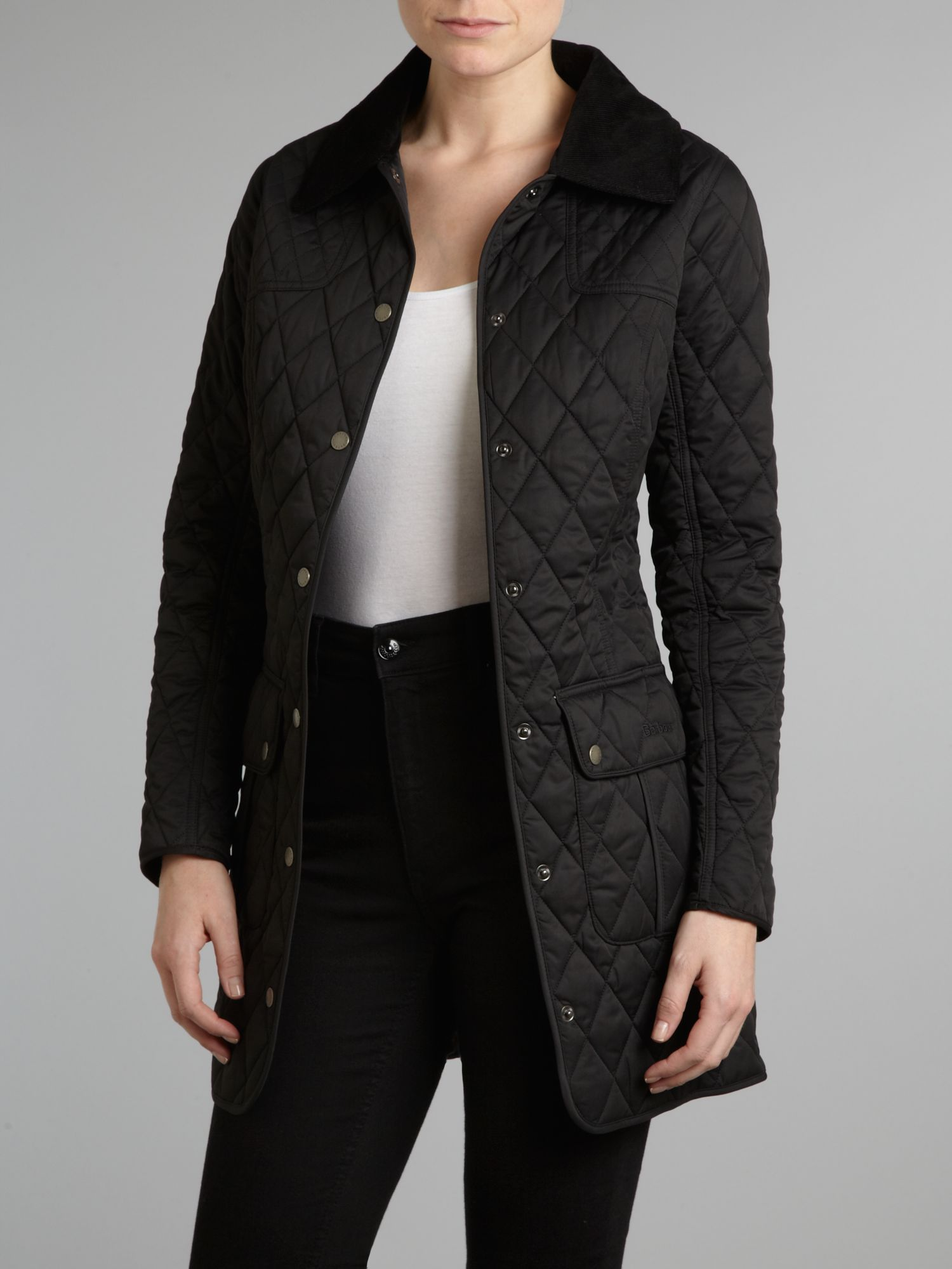 Cotswold mid length quilted jacket