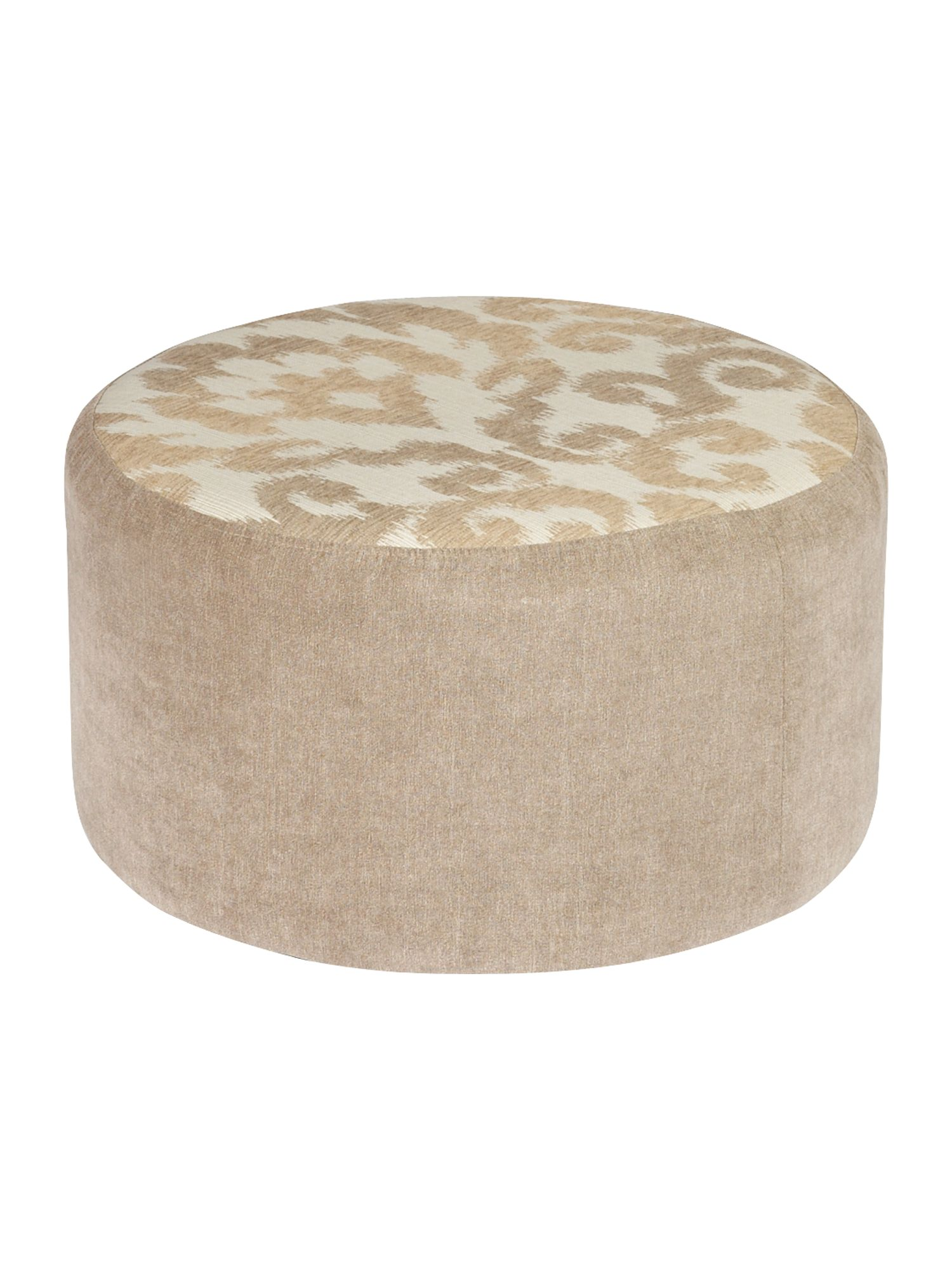 Cheshire Patterend Top Round Footstool