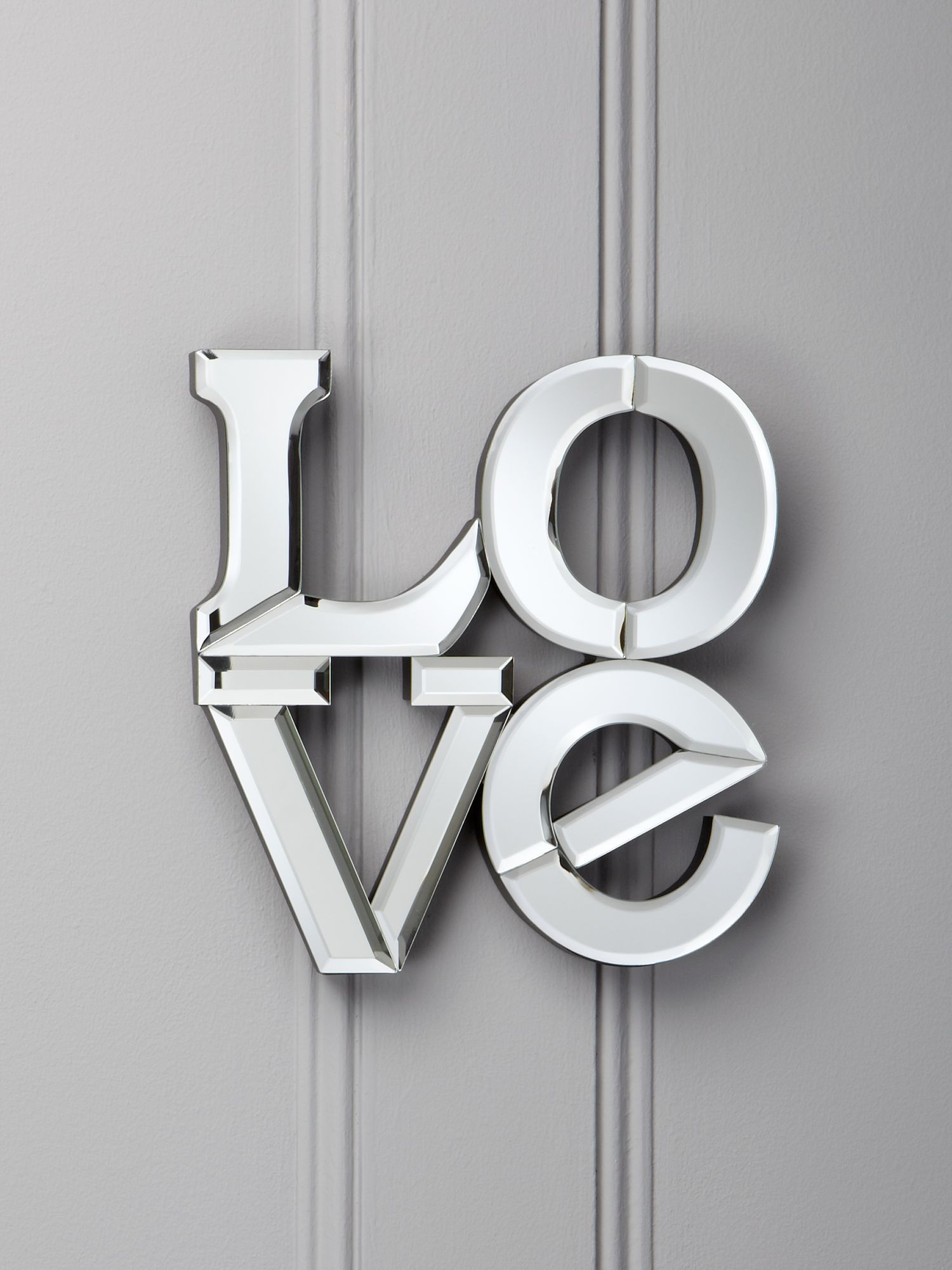 Mirrored `Love` letters