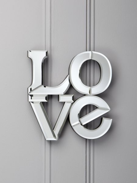 Linea Mirrored `Love` letters