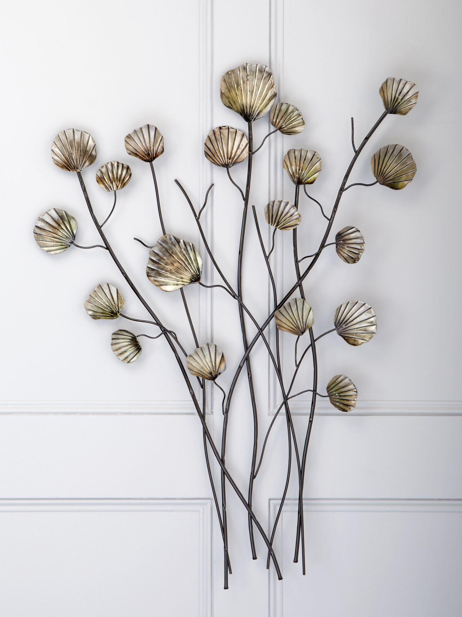 Metal lotus flower wall art