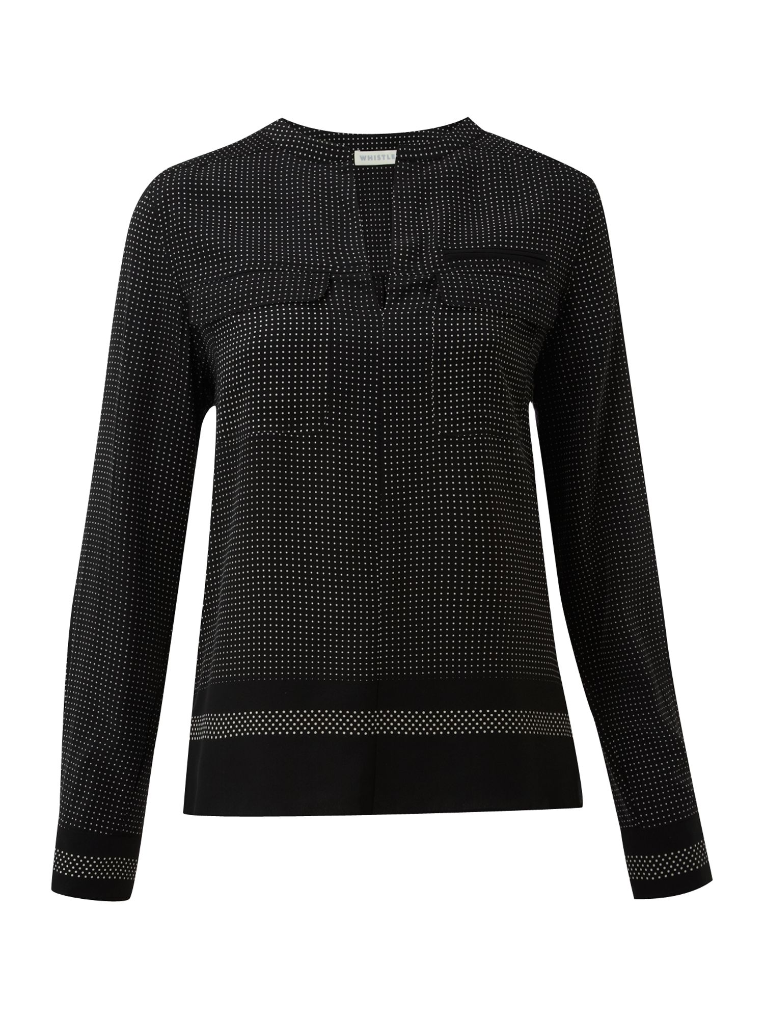 Whistles Womens Whistles Prudence dot blouse, Black product image