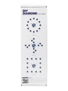 D.I.Y diamond wall clock