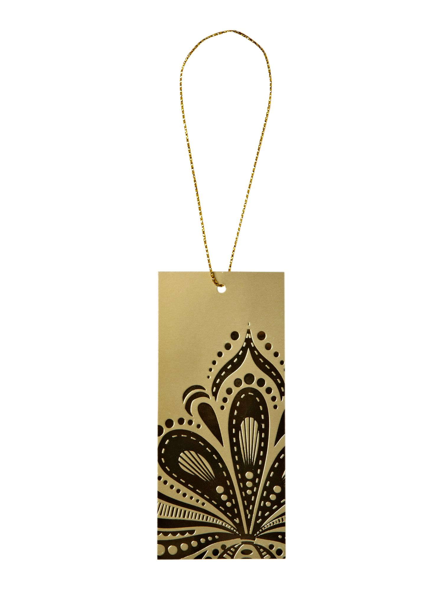 Ten damask tags