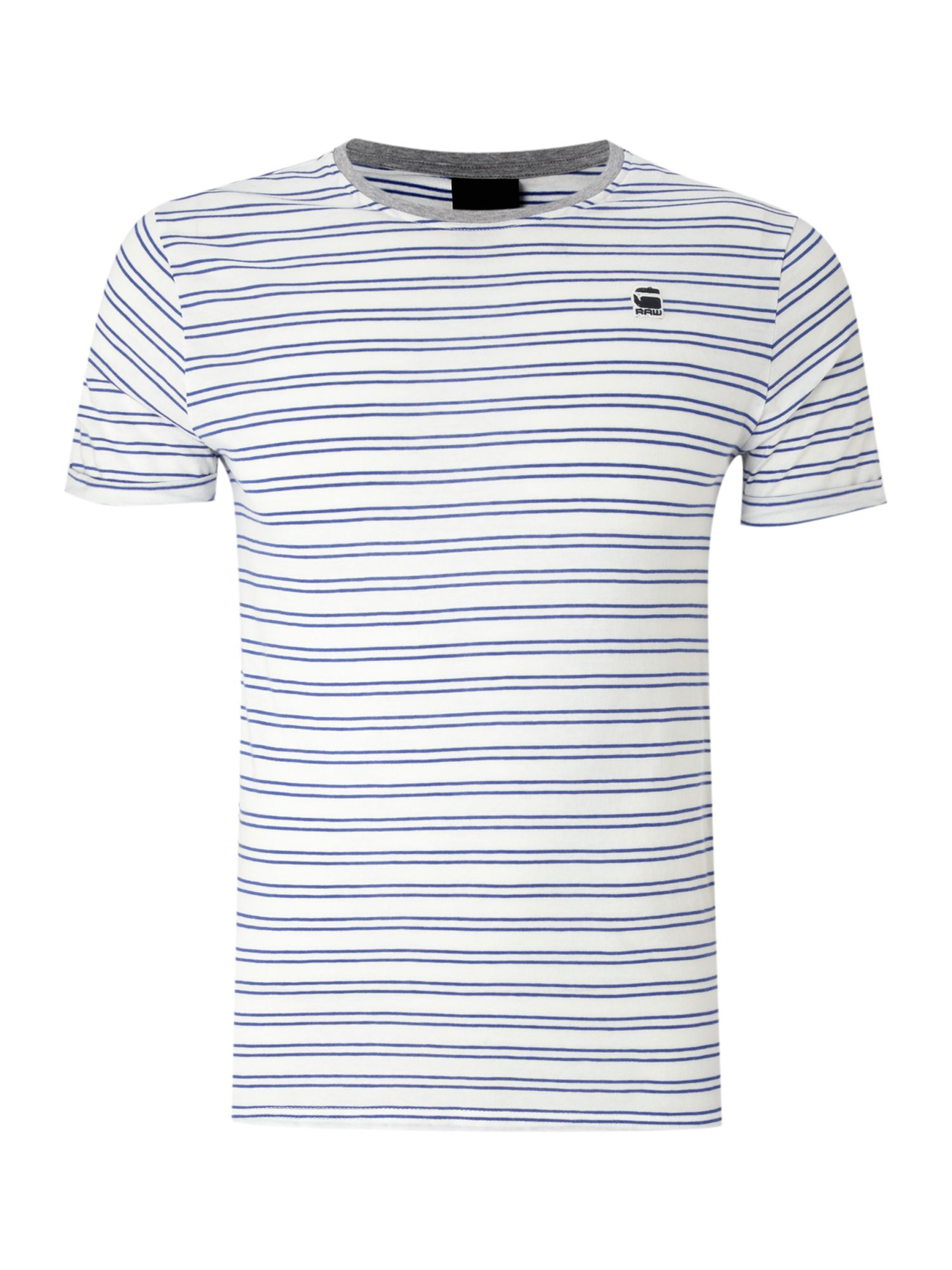 G-Star Mens G-Star Faded stripe t-shirt, Navy product image