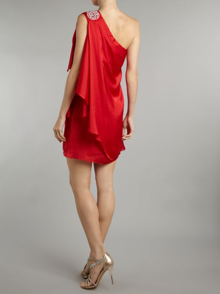 JS Collections One shoulder draped dress