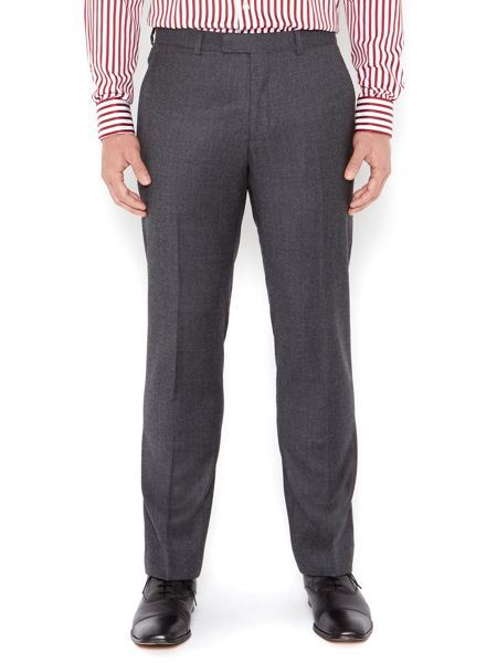 New & Lingwood Queensbury flannel suit trousers