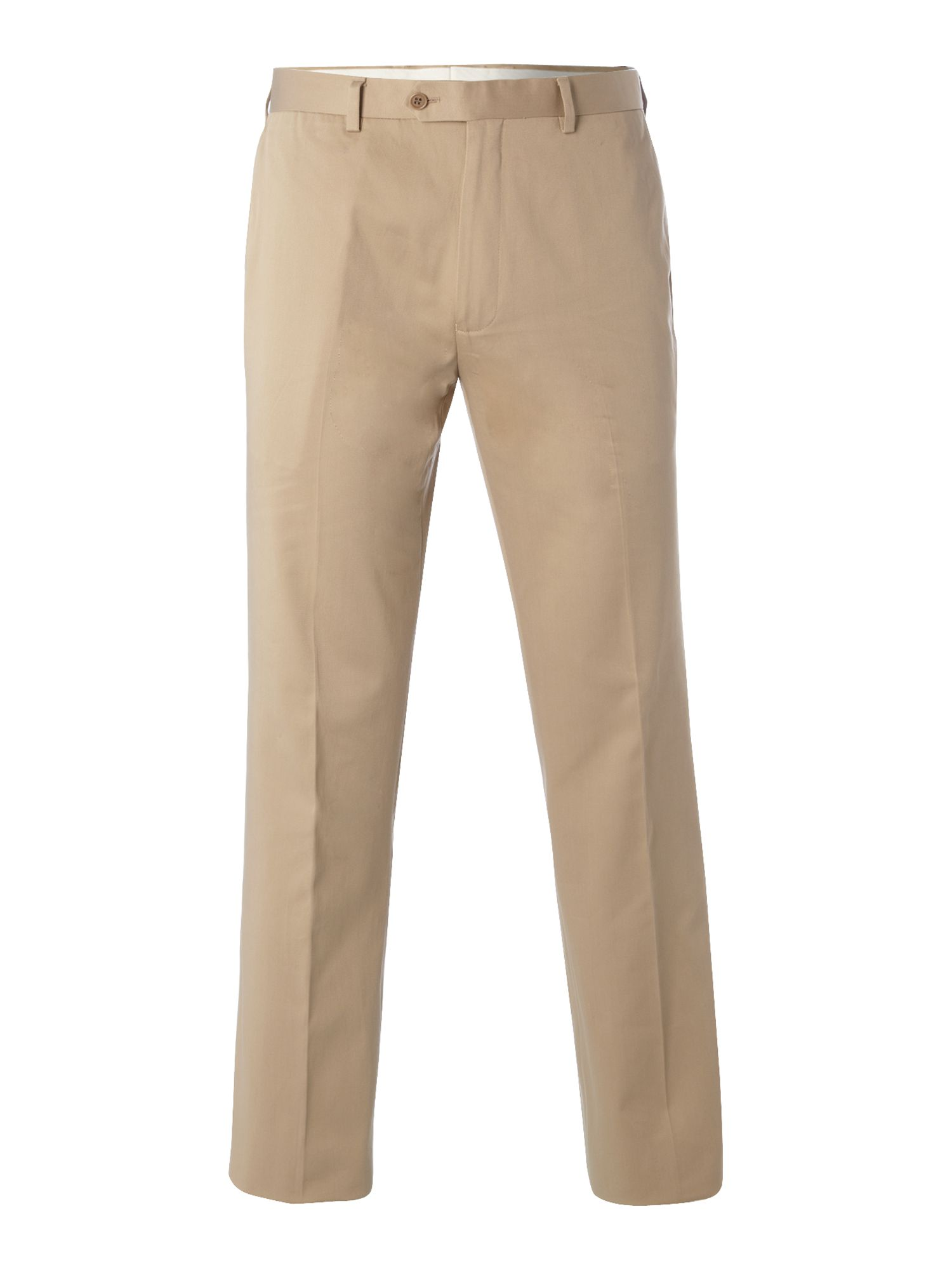 Manhatten twill cotton flat front trouser