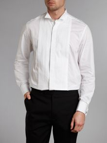Dinner Shirt with wing collar & plisse bib