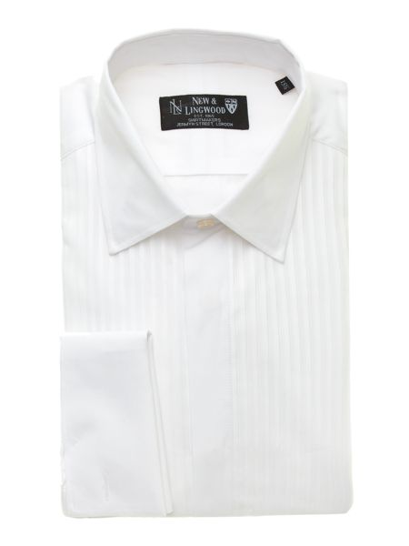 New & Lingwood Dinner Shirt with standard collar & marcella bib