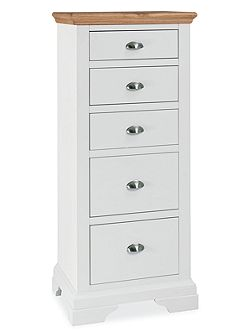Etienne 5 drawer tall chest