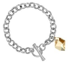 18ct White Gold Plated Charm Bracelet